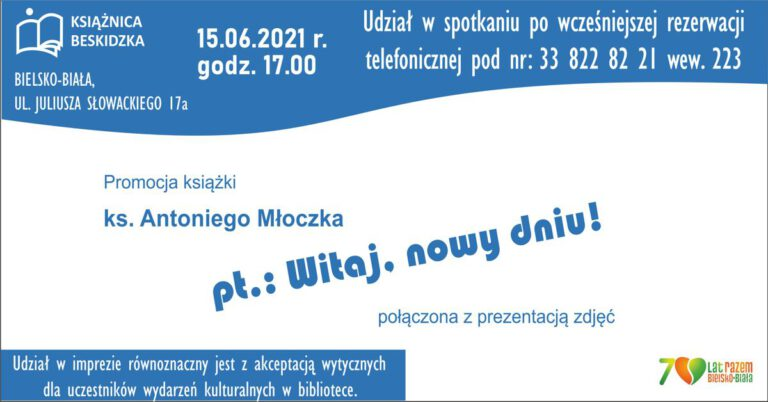 baner o promocji książki księdza Antoniego Młoczka